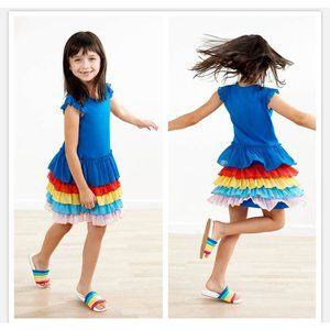 Hanna Andersson Tiered Rainbow Dress w/ Tulle T6T